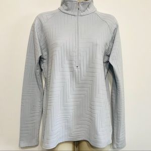 Lucy Ice Blue 1/4 Zip Up Long Sleeve Jacket